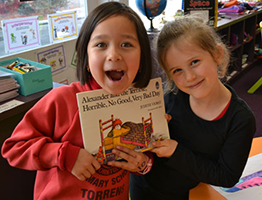 image of children hold the book