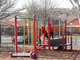 Junior children in the playground