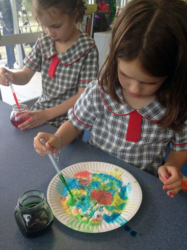 Year 2 exploring chemical reactions with sodium bicarbonate